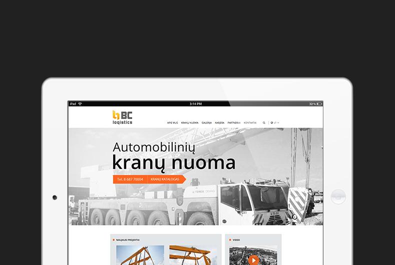 Website design and development for Baltic crane logistics