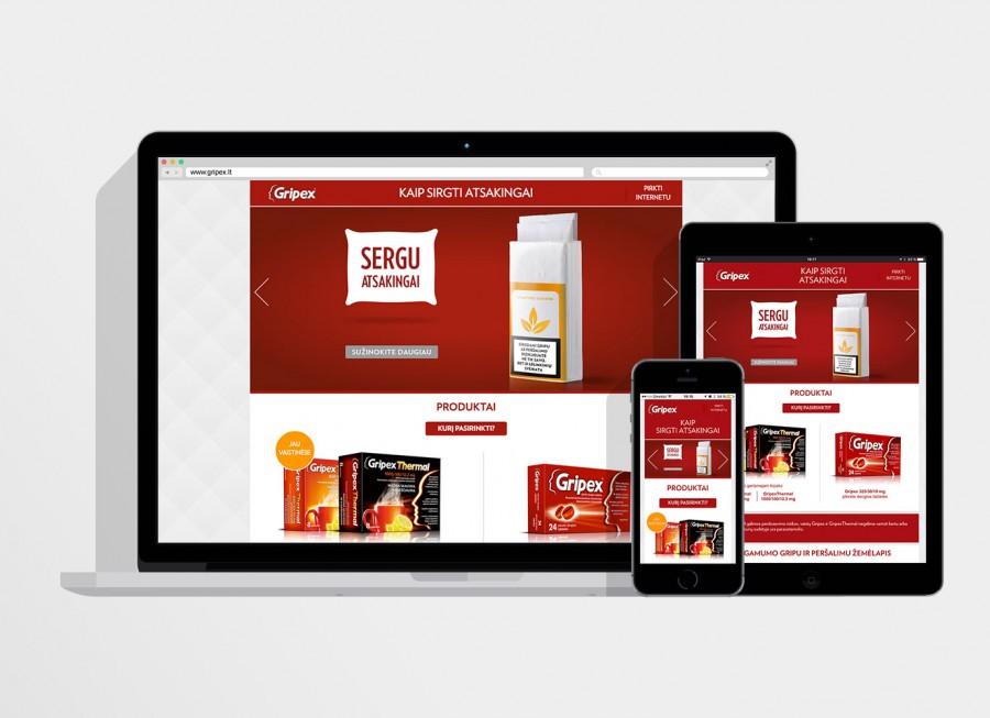 Gripex.lt website development