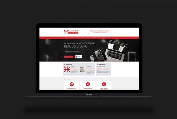 Hermitage.lt website design and development