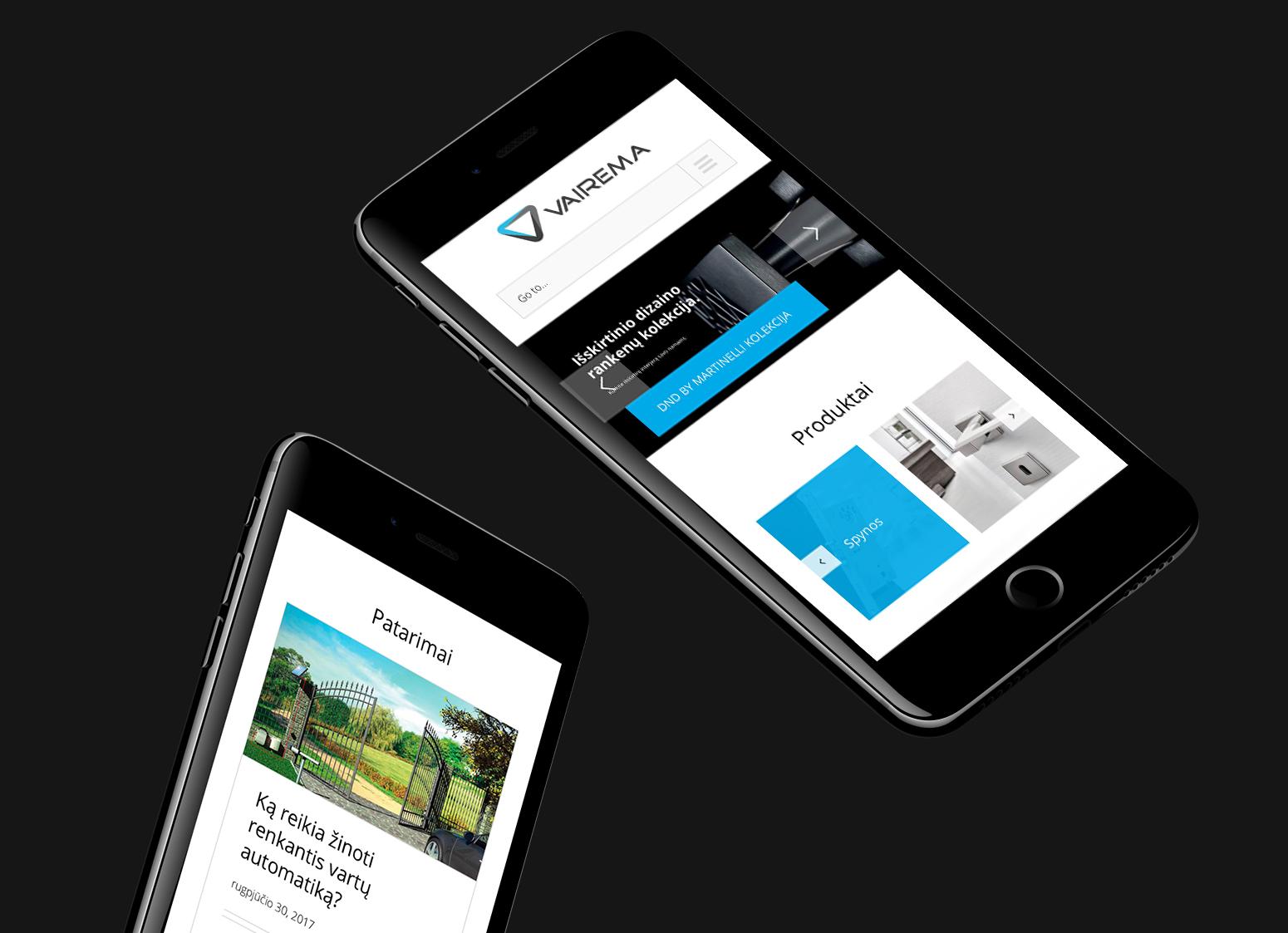 website Vairema.lt design and development