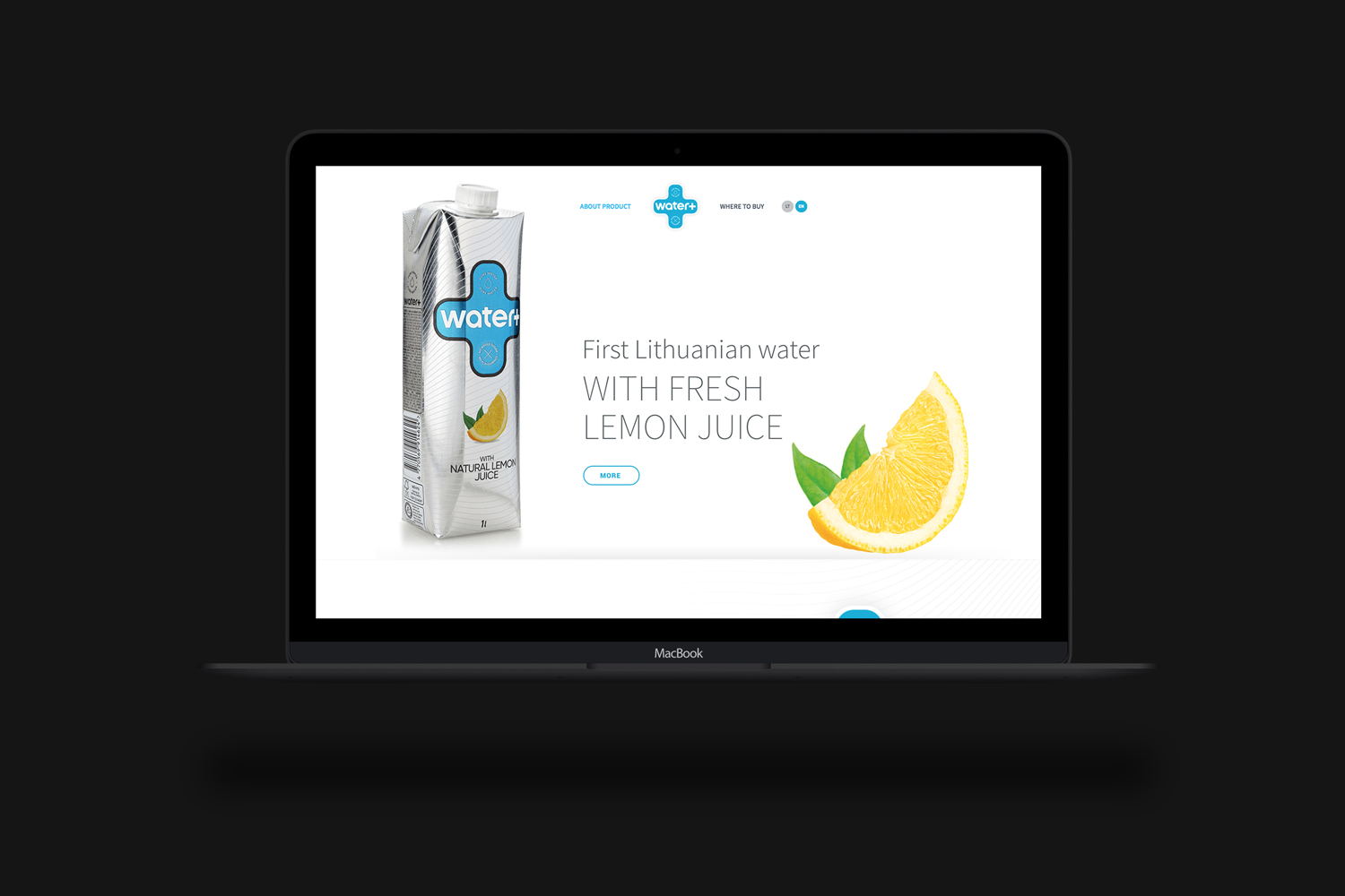New product website for WATER+