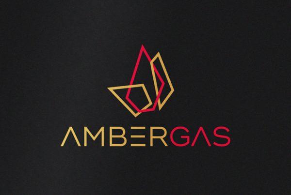 AMBERGAS logotipo dizainas