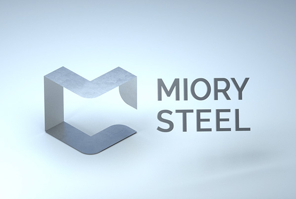 Miory Steel 3D logo animation