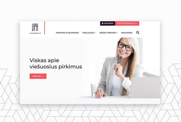 Pixel House sukurta VPA internetinė svetainė